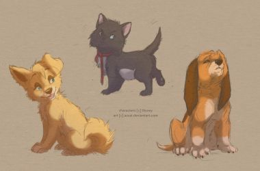 disney characters sketches by azzai