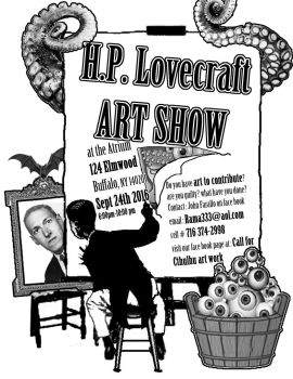 LOVECRAFT ART SHOW POSTER IN BUFFALO by JohnFarallo