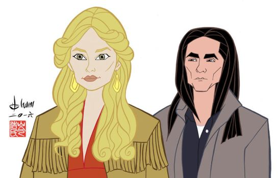 Rachel Keller and Zahn McClarnon - Fargo by howardshum