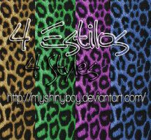 4 Animal Print Styles by MyShinyBoy
