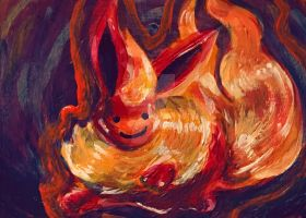 Ditto Flareon ATC (FOR SALE!) by CassowaryRoom