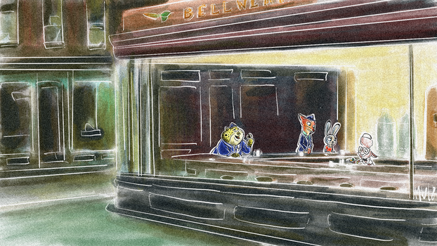 Zootopia - Nighthawks by Weischede