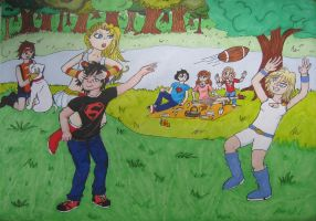 Picnic for the Superman family by LyceeauxsecretsNarut