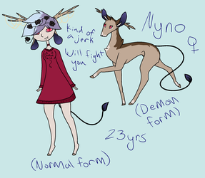 Nyno Ref sheet by LillyofIndominus