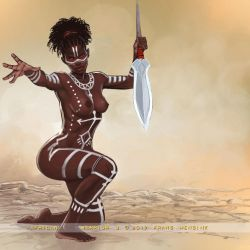 African Warrior 3 by FransMensinkArtist