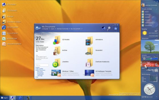Win7Concept - '7351' Blue by aesmon11