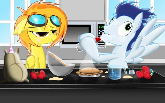 Spitfire and soarin.......cooking a pie by Spitshy
