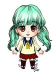 Blue green chibi by Lovely-Bacar