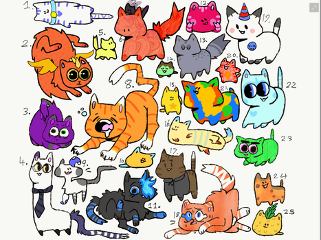 Free cat Adoptables 2 (Closed) by Edie11