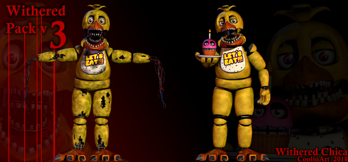 [Withered pack v3] Withered Chica by CoolioArt