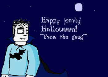 Happy early Halloween from the gang by tigerclaw64