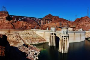 Hoover Dam and Memorial Bridge by AthenaIce