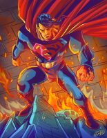 Superman 75TH by eldeivi