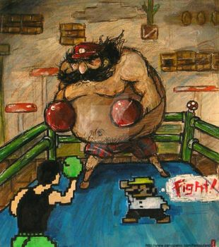 -Super Mario Punch Out 2007- by kichisu