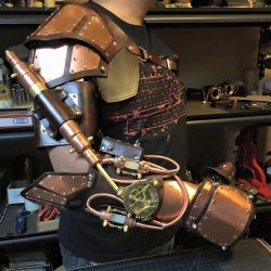 Steampunk Arm with piston. Work in progress. by CraftedSteampunk