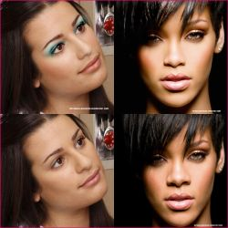 Retouch Lea Michele and Rihanna by AntonellaVenezia