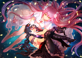 Madoka x Homura - I'll always be by your side by CherryInTheSun