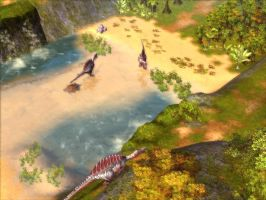 Spinosaurus on Cliff by KZ-KW