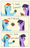 Dash gets help with a Rubik's Cube by DerpyJoel