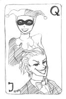 Art Trade: Harley Quinn and the Joker by choco90