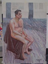 Life Painting Male Nude by JohnMKimmins