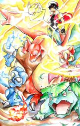 Trainer Red (watercolor) by ExShen
