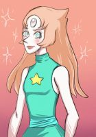 Pearl with long hair - Steven Universe by Ravenrain13