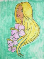 Girl with Orchids by Mr-Pink-Rose
