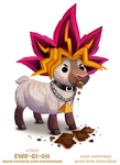 Daily Paint 1994# Ewe-Gi-Oh by Cryptid-Creations