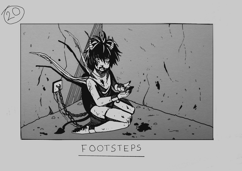 Day 20 - Footsteps by Inui-Purrl