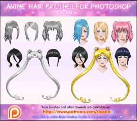 Anime Hair Brushes by itaXita