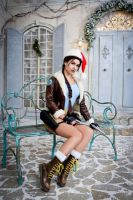 Christmas Lara Croft cosplay - just sitting by TanyaCroft