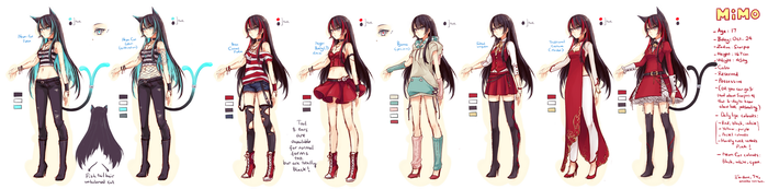 Mascot: Mimo's outfit references by ZenithOmocha