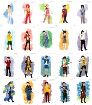 ARASHI COSTUME COLLECTION 1-20 by emichii