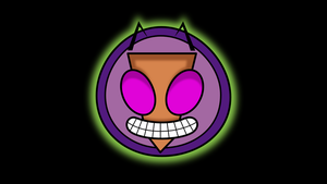Invader Zim face logo thingy by mattyhex