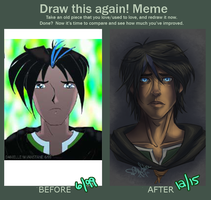 Redraw starring Yasuo: Before 1999, and After 2015 by Danni-Stone
