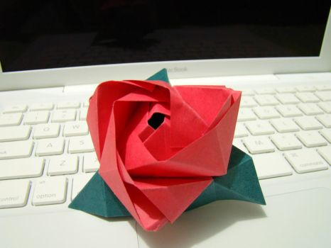 Origami Rose by miriambr