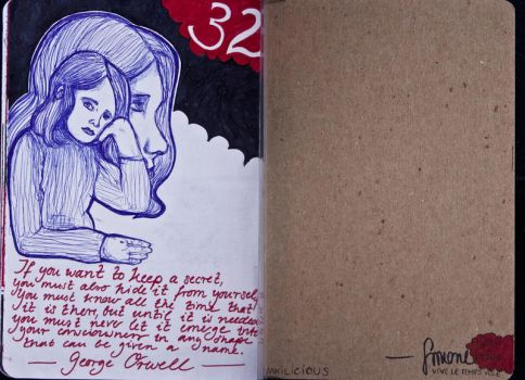 Sketchbook Project Limited Edition 2012 secret 32 by Nakilicious