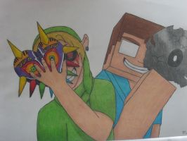 Herobrine and BEN Drowned by scourge8989