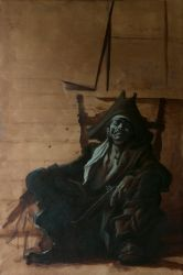 Pirate...back to oils by PaulMellender