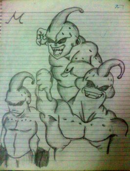 Majin Buu: Three different forms by SiriEss
