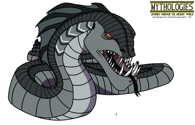 Mythologies - Jormungandr the Midgard Serpent by HewyToonmore