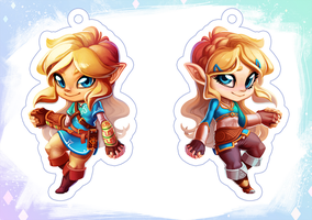 Link and Zelda Charm by Qesque