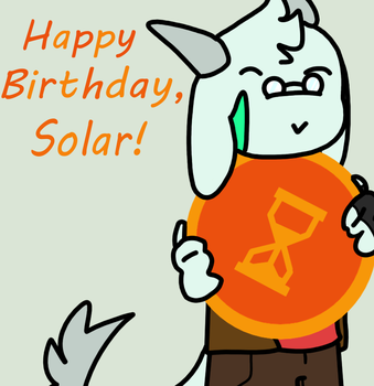 Happy Birthday, SolarSands! by Bruhbox3