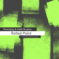Rolled Paint Photoshop and GIMP Brushes by redheadstock