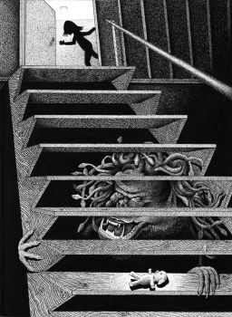 The Basement Stairs by ronmonroe
