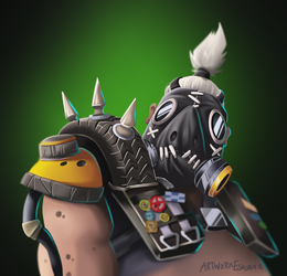 Overwatch Roadhog by artwork-eskobar