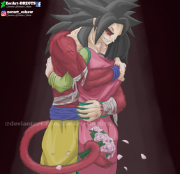 -RE-UPLOAD- SSJ4 Goku x ChiChi by ZorArt-DBZGTS