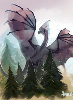 Dragon and Trees by ANicB