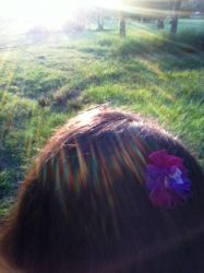 Flower Hair Clip by RebeccaJewelry